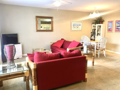 Photo for Affordable 2 bedroom 2 bath condo just 2 blocks from Public Beach
