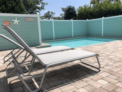 Catch some sun by the pool!  2.5 ft deep on shallow end & 5 ft deep on deep end.