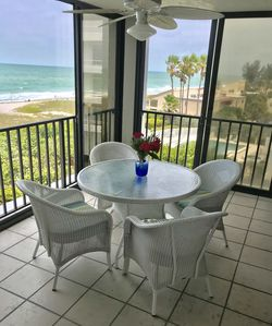 Front Lanai over looking the Gulf. The best seats in the house.