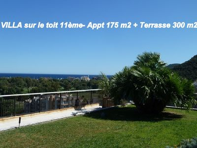 Photo for VILLASURTOIT-SEA VIEW-175m2 + (Terrace300m2) -6pers. sea-pool-beach-golf-boat