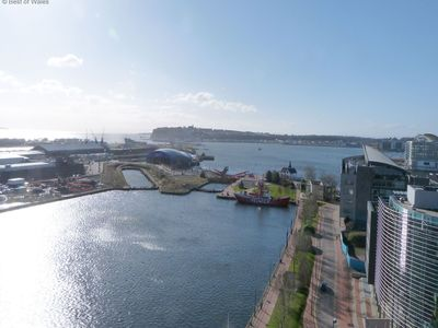 Photo for Cardiff Waterside Apartment: Modern, Great Location with Beautiful Views over Cardiff Bay