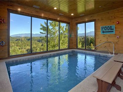 Photo for Mountain Splash Lodge| Private Indoor Pool| Theater Room| Mountain Views| WiFi| Handicap Accessible