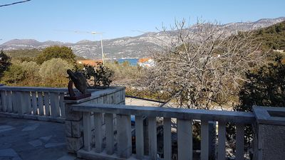 Photo for Two bedroom apartment with terrace and sea view Cove Vrbovica, Korčula (A-12057-a)