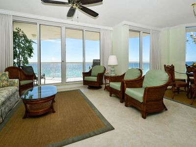 Beachfront corner end unit with spectacular gulf views from living areas!