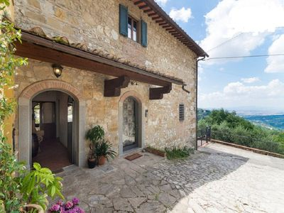 Photo for Apartment in a typical tuscan farmhouse