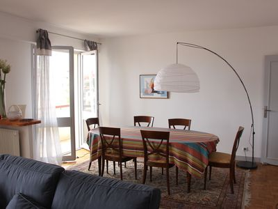 Photo for COMFORT SPACE LIGHT 97 m2 6 th floor parking 2 steps from beaches and town center