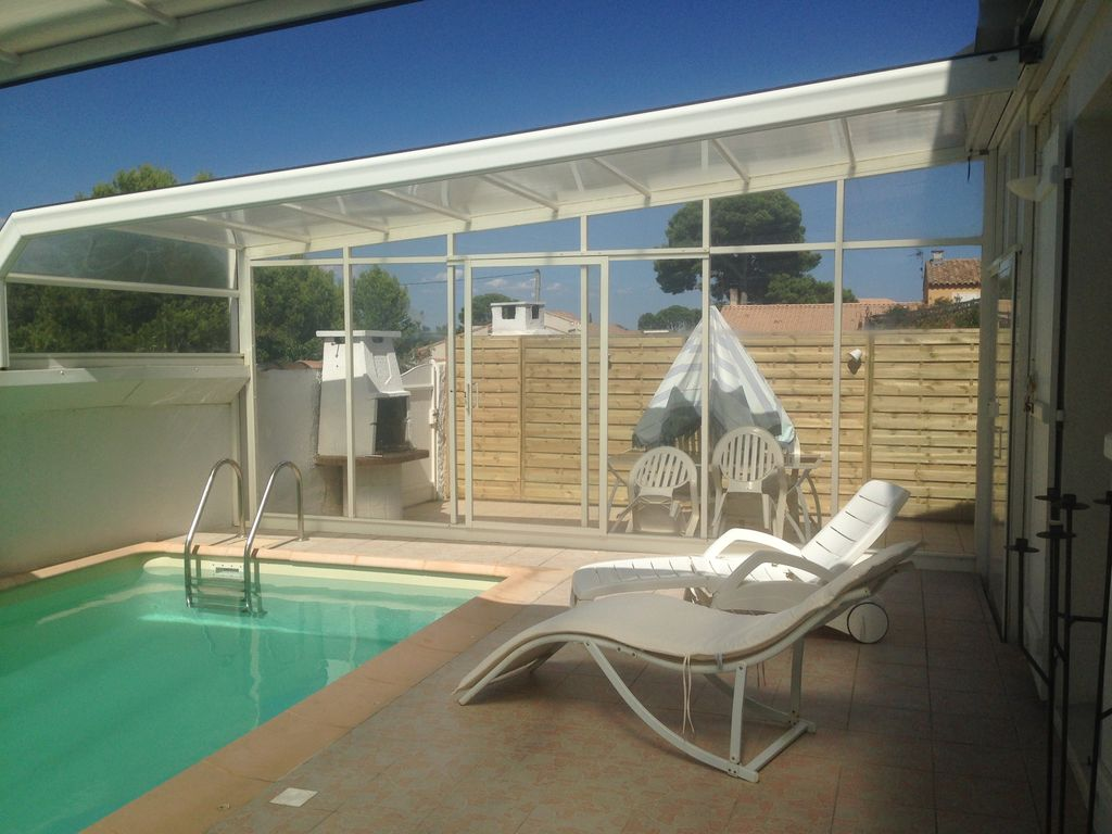 Beautiful sunny house with swimming pool set between sea and Muscat  vineyards - Frontignan