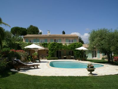 Photo for Stunning villa with heated swimming pool, air conditioning and large, private, enclosed garden