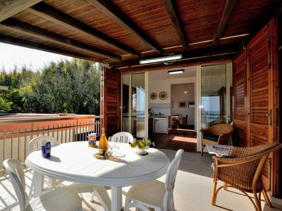 Photo for AL085 Beach house with spectacular views of the Gulf of Castellammare