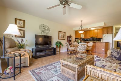 Living Room Area With Large Flat Screen TV