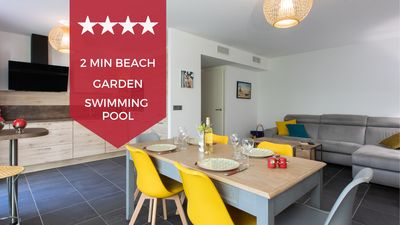 Photo for KIKILOUE ☀️ CANNES 2 BEDROOM WITH GARDEN ☀️ In the heart of Palm Beach