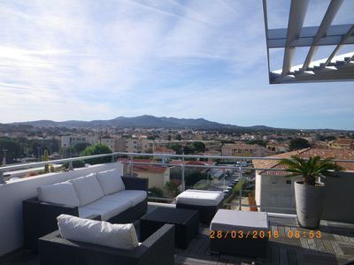 Photo for Very nice T3 panoramic sea view and hills .Gde terrace with jacuzzi