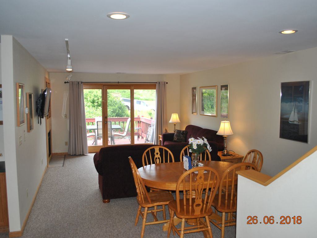 Downtown Bayfield Lake View Condo203 Sleep Vrbo