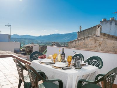Photo for Sunset Campanet Sol - Attic for 6, with terrace and barbeque