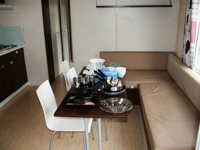 Photo for Camping Le Rochat *** - Mobil Home Trio 4 Rooms 7 People