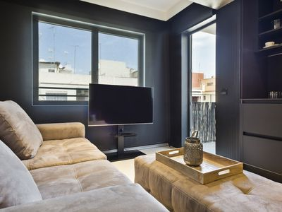 Photo for Beautiful luxury apartment in the Port of Barcelona with private terrace for 4