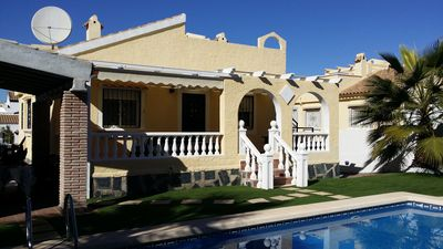 Photo for Detached villa with covered BBQ, private pool and Wi-Fi