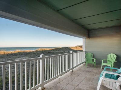 Photo for Tranquil Treasure:Oceanfront 2 bedroom condo, watch the sunrise from your balcony, and pet friendly!