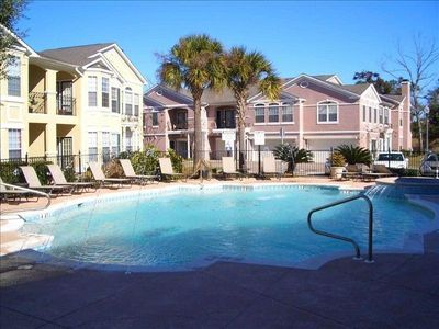 Photo for Immaculate Condo in Gated Community  Across from the Beach.