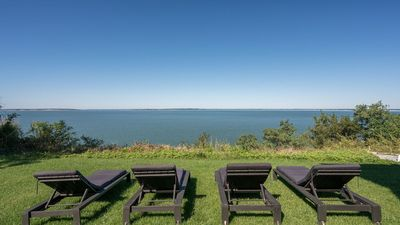 Photo for New Listing: Waterfront Sag Harbor Home w/ Unobstructed Views of Little Peconic Bay, Beach Access