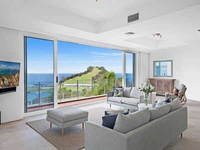 Photo for Commanding spectacular 180 degree ocean views all the way from Terrigal Haven to Norah Head, this st