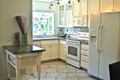 Fully equipped kitchen with new refrigerator, dishwasher, microwave, stove/oven