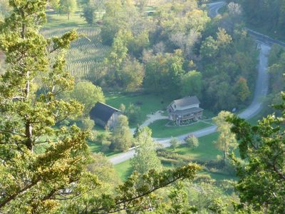 The Villa view from the highest peak on the farm!