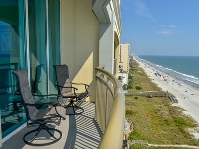 Photo for GORGEOUS! 3 Bedroom 3 Bath Oceanfront condo with an Outdoor pool, indoor pool, lazy river, fitness center!