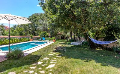 Photo for Elegant villa with private pool only 600 meters to the sandy beach with air conditioning, WiFi