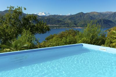 Pool with awesome view of Monte Rosa and Lake Orta