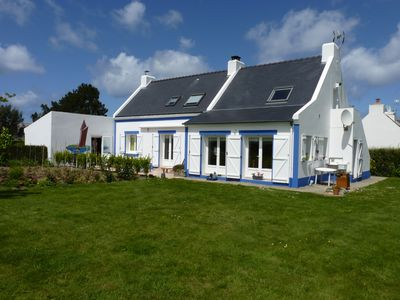 Photo for A Belle Ile: 1 800m from the beach to guest room; boat fishing