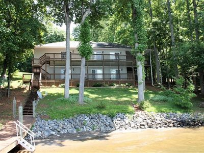 Photo for Briarcliff - Gentle Lot, Convenient Location, Double Decks, Pool Table, Large Private Dock & Beautiful View!