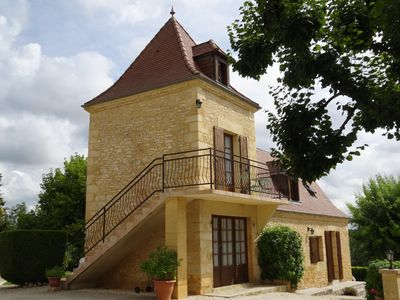 Photo for Enchanting place, quiet apartment in stone house, lots of charm!