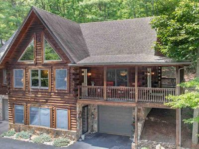 Photo for Moutain Top Log home with slope views