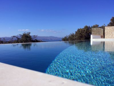 Photo for Exclusive villa with spectacular views of mountains, valley and sea