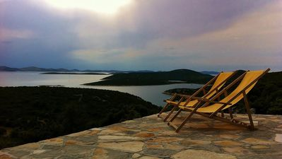 Photo for Villa Robinson is stone house with breathtaking view on National park Kornati