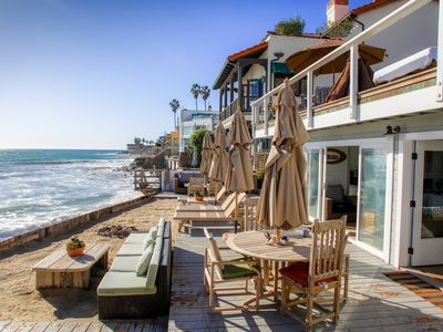 Photo for Shabby Chic Malibu Beach House - Ocean Level