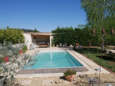 Photo for Between Aix en Provence and Ste Victoire, Provençal villa with heated pool