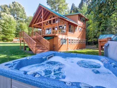 Photo for NEW LISTING! Riverfront home w/ private hot tub, views & modern amenities!