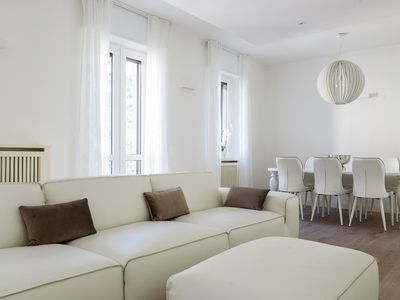 Photo for Beautiful three bedroom apartment, just outside the city walls of Como.