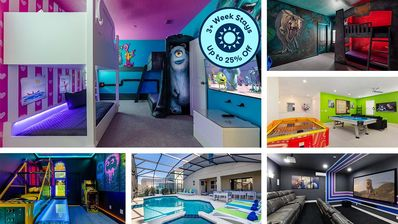 Photo for Unique Orlando Getaway w Private Pool, Movie Theater, Arcade & Themed Bedrooms