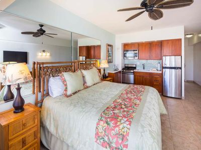 Photo for Amazing Pacific View in Upgraded Suite w/Kitchenette, Free WiFi–Waikiki Shore #1304
