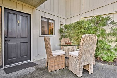 Enjoy your favorite wine with your travel companions on the front porch.