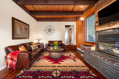 Welcome home - cozy family room for reading, relaxing, playing games, and watching TV.