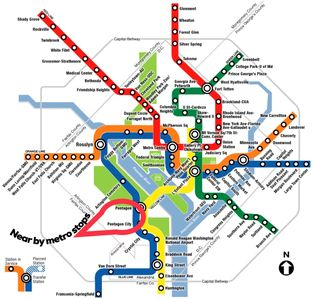The Pentagon and Pentagon City Metro Stops are the closest metro to us. ~ 1 mile