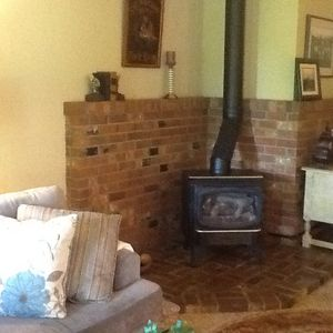 Lovely gas fireplace for those cool evenings.