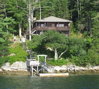 Photo for Tradition Maine Log Cabin with Both SALT and FRESH Water Access!
