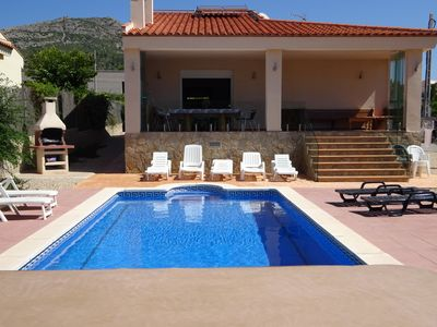 Photo for 4 Bed / 2 Bathroom with Pool, Garden Jacuzzi & Views sleeping 8 adults & 2 child