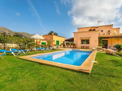 Photo for 3 bed 3 bath villa w/private pool, car essential, close to Pollensa & beaches at Puerto Pollensa & Cala San Vicente.