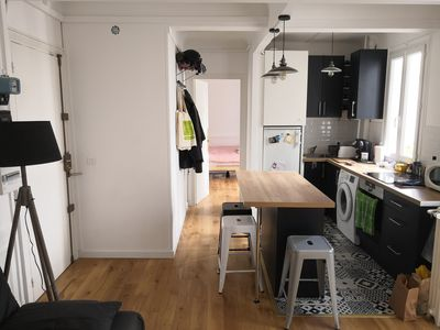Appart 2 rooms 37m ² in front of Buttes Chaumont
